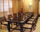 個室もテーブル席に変更できます。