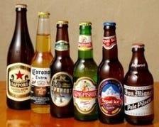 珍しいアジアのビールが勢ぞろい