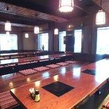 完全個室の宴会席 18名様用の個室が3部屋 つなげれば最大54名様ご利用いただけます