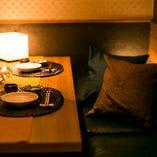 個室テーブル席2名様~OK!