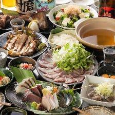 新鮮魚介や土鍋飯を味わう宴会コース