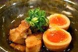 豚の角煮と半熟玉子