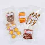 お得な5品セット。お好きな燻製をお選び頂けます。(写真は5点チョイスイメージ)