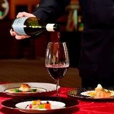 ワインセラーを完備したレストラン