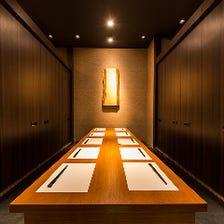 飯田橋の街並みを覗ける夜景個室