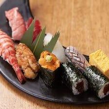職人の握る本格寿司と旬味満載の和食