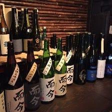 常備30種類以上日本酒あります!