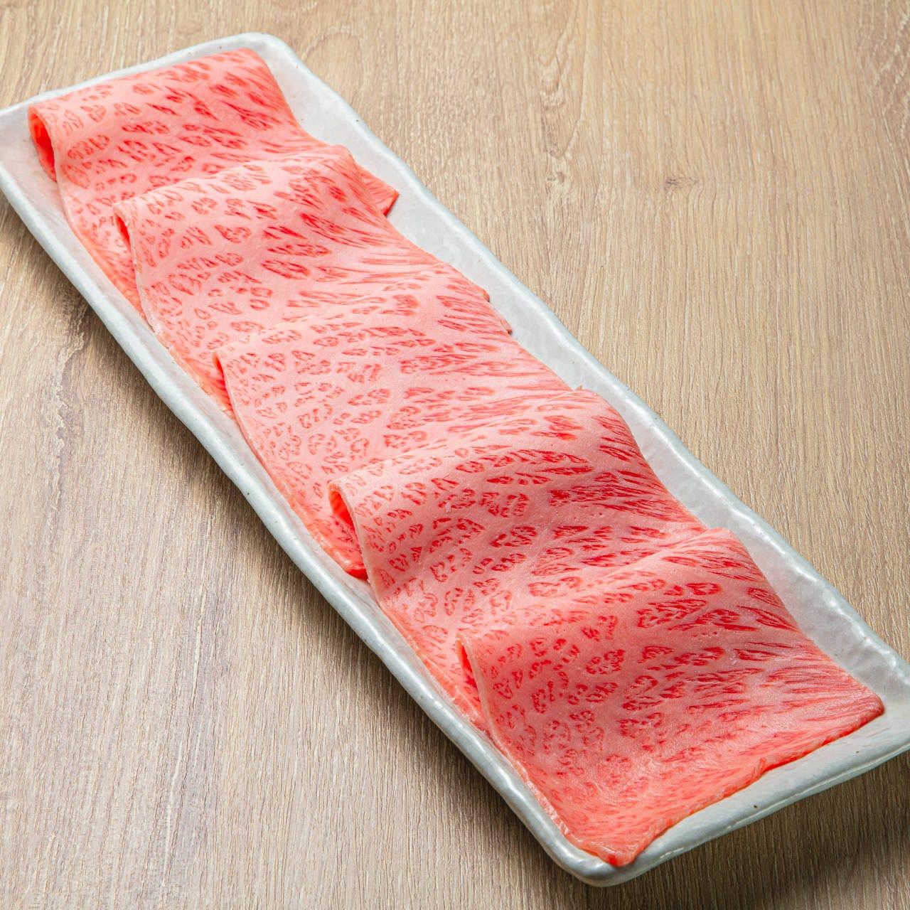 最高級のA5黒毛和牛赤身肉