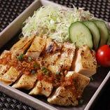 【ランチ】炭火焼チキンステーキ 大和 特製生姜ソース