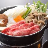 すき焼き御膳 (赤だし・デザート付)
