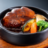 ★黒毛和牛100%★【煮込みハンバーグ ランチ】 前菜・サラダ・ライス・スープ・デザート付