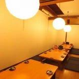 最大40名様までご利用頂ける掘りごたつ個室完備。各種宴会に最適