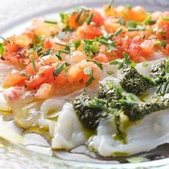 本日の鮮魚のカルパッチョ2種盛り