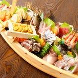 透き通るような新鮮な鮮魚をご用意【築地から取り寄せた新鮮な鮮魚】