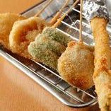 串カツ野菜盛り合わせ