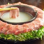名物「牛タン焼しゃぶ」一度食べるべし!