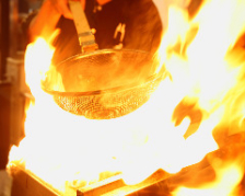 天草大王の火柱焼き(炭火焼き)