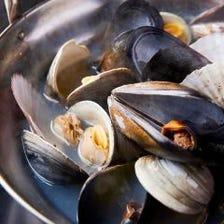 ムール貝と色々な貝の蒸し