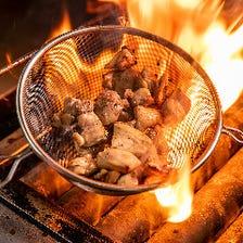 「赤鶏さつま」炎のコロコロ焼き