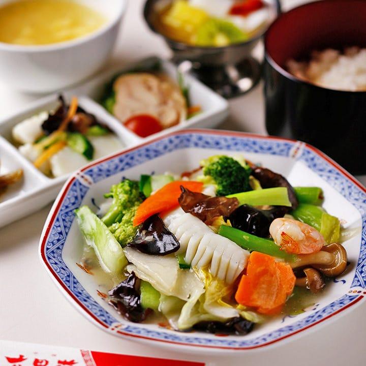 八宝菜定食 1,080円 本場の味を是非ご堪能あれ