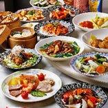 本格中国料理のコースをお楽しみください