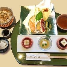 海老と野菜の天ぷら御膳