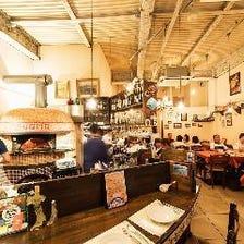 イタリアのピッツェリアをイメージ