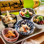 京都地酒やこだわり焼酎を片手に、ゆっくりとお寛ぎください。