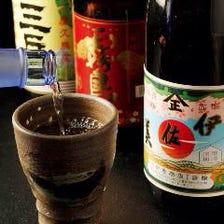 大海酒造の焼酎がズラリ。