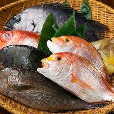 旬の鮮魚は産地直送で新鮮なものを!
