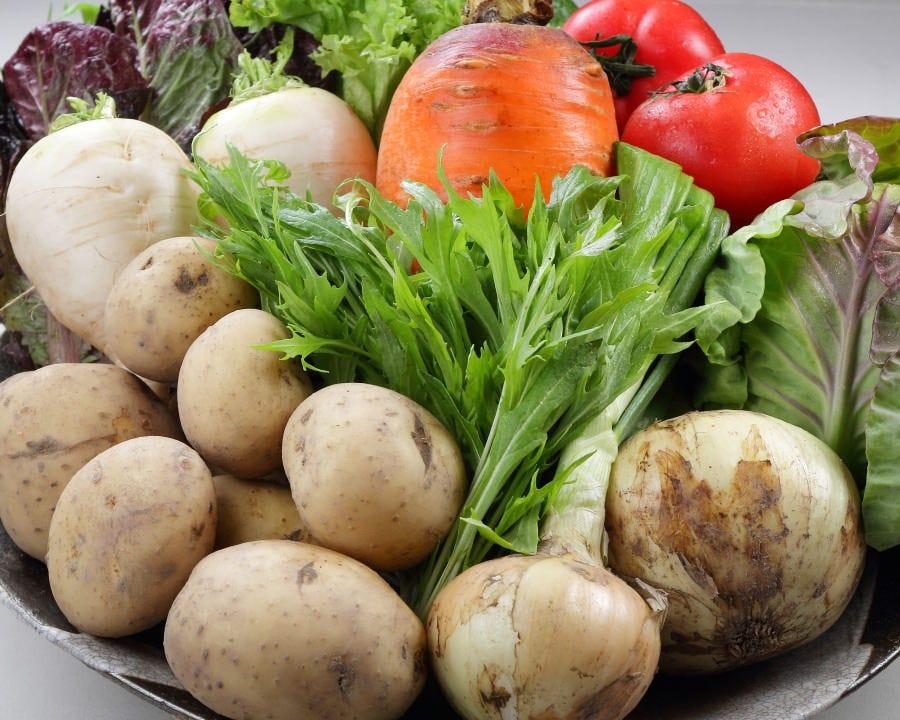 こだわりの旬の有機野菜