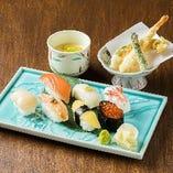 【積丹定食 1,690円】北海道を代表するネタを握る北前寿司セット