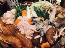 岡山産牡蠣たっぷりの痛風鍋がうまい