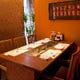 2階のテーブル席は、8名様以上で個室としてご利用いただけます