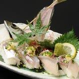 釣った魚で握り寿司
