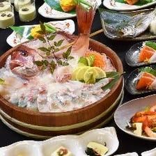 船上席や個室から釣って食べるお店!