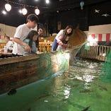 大人も子供も真剣になってしまう釣りが一番の魅力