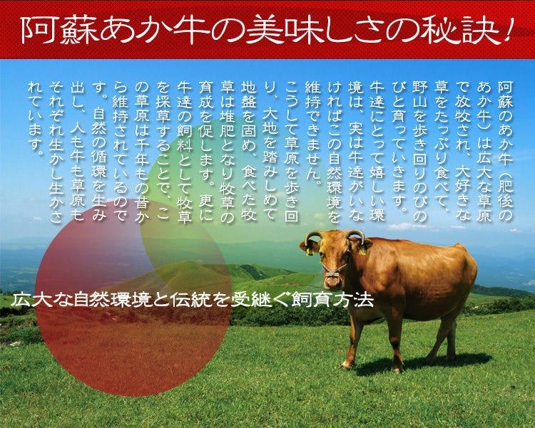 本場直送の熊本阿蘇のあか牛