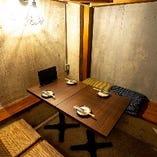 自慢の隠れ家のような個室。接待や会食などでもご利用可能