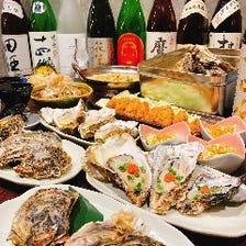 【牡蠣堪能コース】☆2.5時間飲み放題付!生牡蠣・カキフライ・ガンガン焼きなど♪新鮮牡蠣を贅沢に堪能!