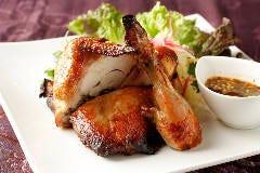 大山鶏の丸ごとハーブグリル