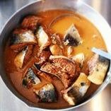 鯖の味噌煮 ゴルゴンゾーラソース