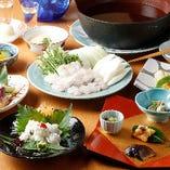 「はも鍋」が味わえる飲み放題コースなどで、旬素材を満喫!