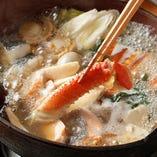国産素材にこだわった「海鮮寄せ鍋」で四季の味わいを堪能