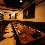 木造りの店内と和食の料理で貸切プラン
