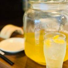 牡蠣にぴったりな自家製レモンサワー