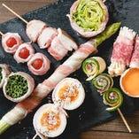 博多名物!野菜巻き串も美味!