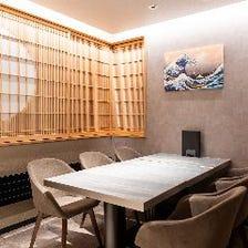 少人数の宴会に最適な完全個室を完備