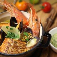 市場直送の新鮮魚介使った魚料理