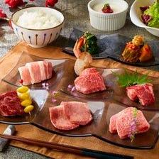 タン塩や上カルビなど7種の焼物も楽しめる!!【恵MEGUMI御膳】